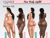. appear . face body lights