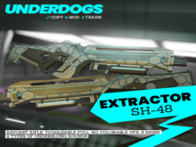 """[UnderDogs] - SH-48 """"Extractor"""" Energy Rifle V101 - Sci Fi"""