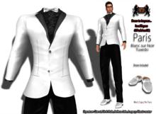 69ParkAveGQ Paris - Blanc sur Noir Tuxedo