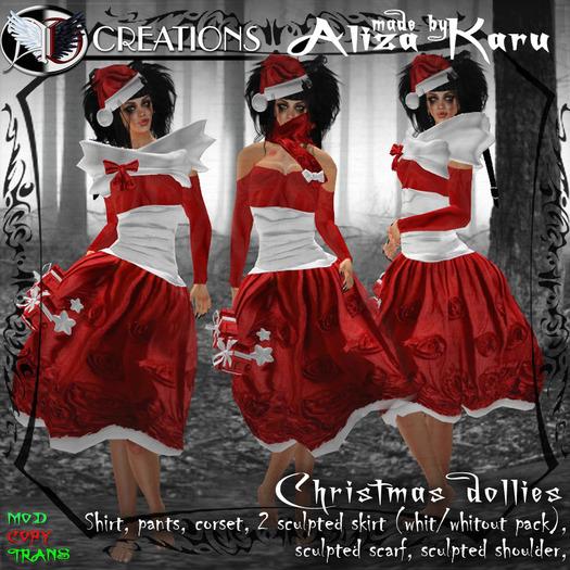 [BOX] Christmas dollies dress 450