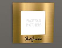 BEST GRANDPA EMBOSSED GOLD FRAME