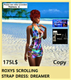 ROXYS SCROLLING STRAP DRESS DREAMER