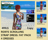 ROXYS SCROLLING STRAP DRESS FAT PACK#