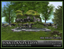 TMG - HARTLAND CLIFFS* 8 Meter High Cliffs with animated pool and animations