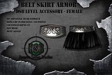 DSB LEVEL Belt Skirt Armor  Black Famale v1.1 - Accessor Box