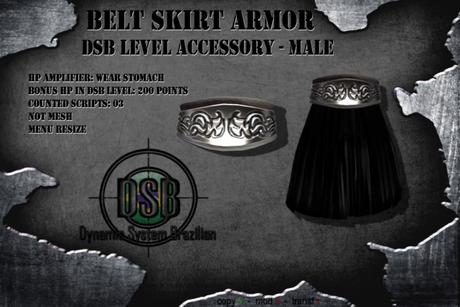 DSB LEVEL Belt Skirt Armor  Black Male v1.1 Box