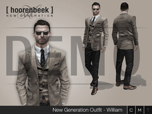 Complete Outfit - William - Signature, Belleza, SLink, Classic Avatar - DEMO