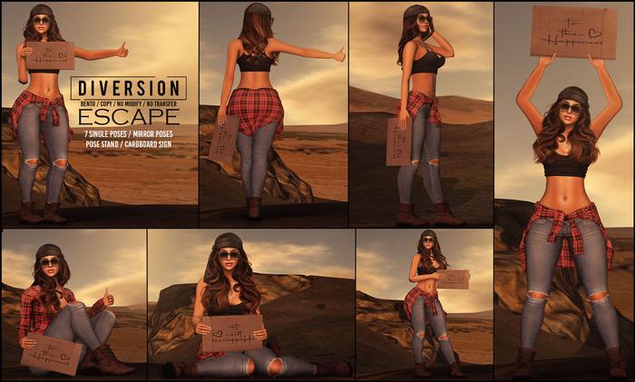 Diversion - Escape Poses (Wear To Unpack)
