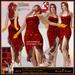 ALB CARMEN dress w HUD red to SLink Maitreya Belleza & heels by AnaLee Balut