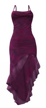 ALB CARMEN salsa dress berry - SLink Maitreya Belleza by AnaLee Balut