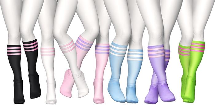 Spoiled - Gamer Under Knee Socks Flat & High Fatpack