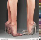 $$ DOLLAR SHOES MONICA LACE STILETTOS/Maitreya,Slink,Belleza,TMP