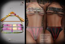 (*<*) 1313 Cara Top & Collar - Rainbow