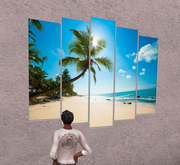 Palm beach canvas panels wall art