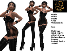 [RG] Emanuel Black Latex Outfit (Box)