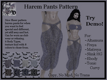 Harem Pants Pattern DEMO (ADD ME)