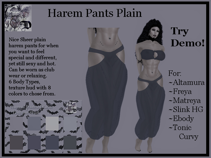 Harem Pants Plain DEMO (ADD ME)