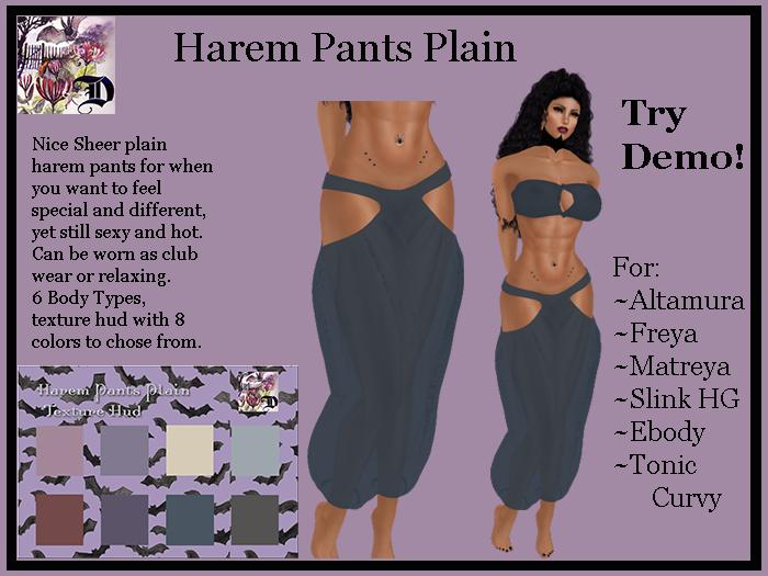 Harem Pants Plain (ADD ME)