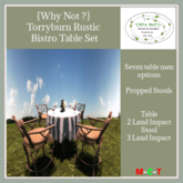 {Why Not ?} Torryburn Rustic Bistro Table-Boxed