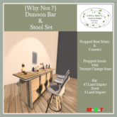 {Why Not ?} Dunoon Bar & Stool Set-Boxed