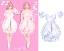 [RNK]Fluffy dress_Sky(wear)