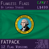 Washington State, USA Flag (Fatpack, 12 Versions)