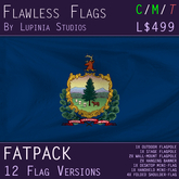 Vermont, USA Flag (Fatpack, 12 Versions)