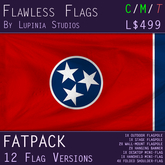 Tennessee, USA Flag (Fatpack, 12 Versions)