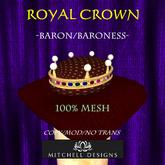 Royal Crown - Baron/Baroness