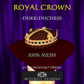 Royal Crown - Duke/Duchess