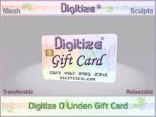 Digitize Gift Card 0L Package