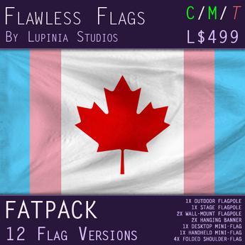 Canadian Transgender Pride Flag (Fatpack, 24 Versions)