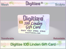 Digitize Gift Card 100L Package