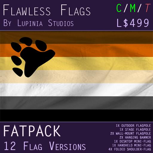 Bear Pride Flag (Fatpack, 12 Versions)