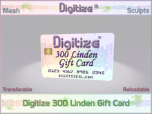 Digitize Gift Card 300L Package