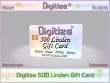 Digitize Gift Card 500L Package