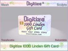 Digitize Gift Card 1000L Package