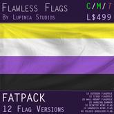 Non-Binary Pride Flag (Fatpack, 12 Versions) - 50% OFF - PRIDE MONTH SALE