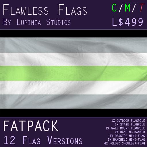 Agender Pride Flag (Fatpack, 12 Versions)