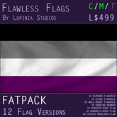 Asexual Pride Flag (Fatpack, 12 Versions)