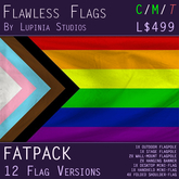 Gay Pride (Progress) Flag (Fatpack, 12 Versions)