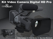 Kit Video Camera Digita HD Pro / Pose Bento & BOX free moviment