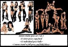 *MV* sisters 1&2 static pose set