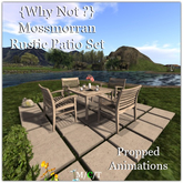 {Why Not ?} Mossmorran Rustic Patio Set-Boxed