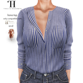 Thalia Heckroth - Liana top BLUE AND WHITE STRIPED