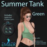 EMBER Summer Tank Green