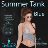EMBER Summer Tank Blue