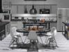 Kitchen & Dining room White Vista PG - 263 animations