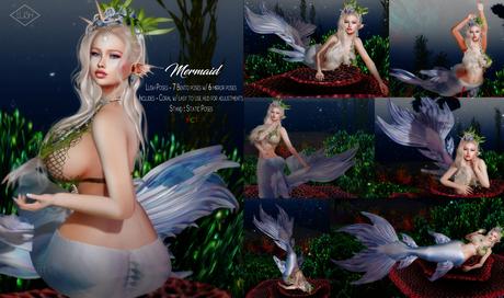 Lush Poses - Mermaid female bento pose pack