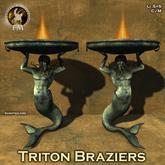 F&M * Triton Braziers - Ancient roman, medieval braziers